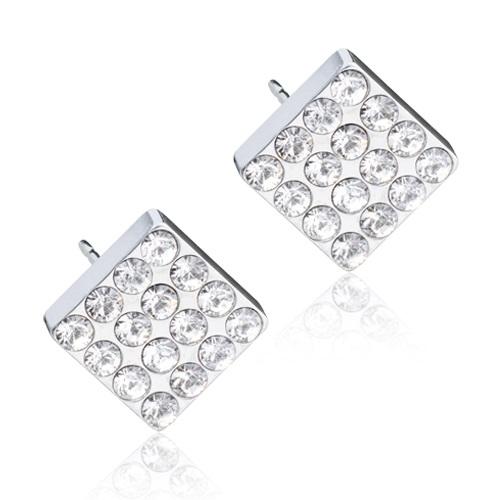 Silver Titanium Brilliance Square (Crystal)