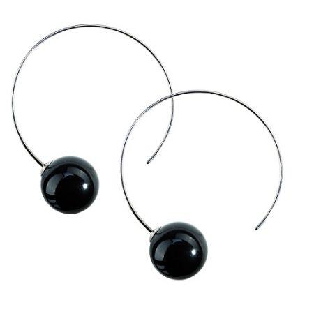 Split Hoop Pearl Mystic Black