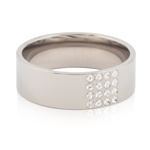 (S) Brilliance Square Crystal Ring
