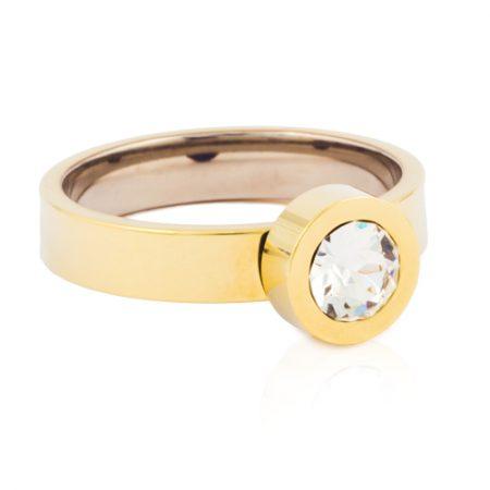 Gold Grand Bezel Ring