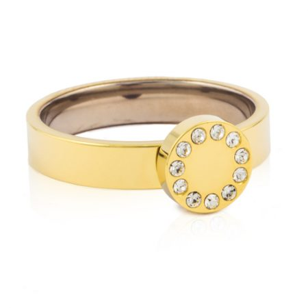 Gold Brilliance Puck Ring