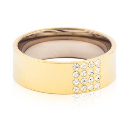Gold Brilliance Square Ring