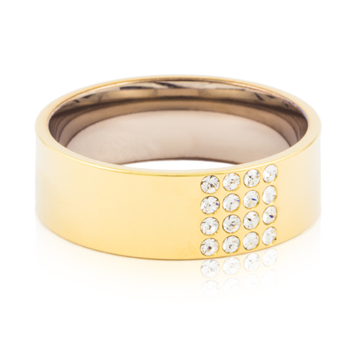 (G) Brilliance Square Crystal Ring