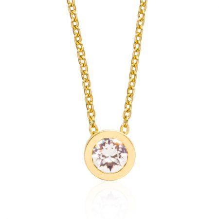 Gold Grand Bezel Necklace