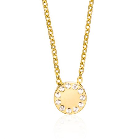 Gold Brilliance Puck Necklace
