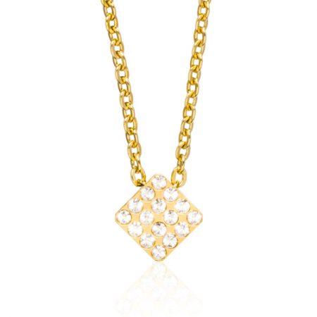 Gold Brilliance Square Necklace