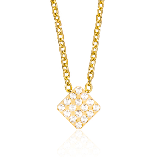 (G) Brilliance Square Crystal Necklace