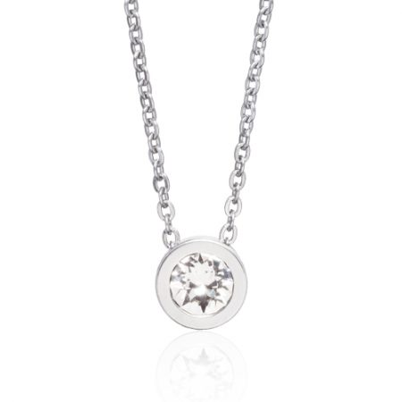 Silver Grand Bezel Necklace