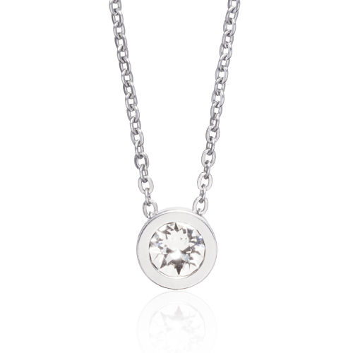 (S) Grand Bezel Crystal Necklace