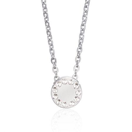 Silver Brilliance Puck Necklace