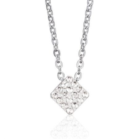Silver Brilliance Square Necklace