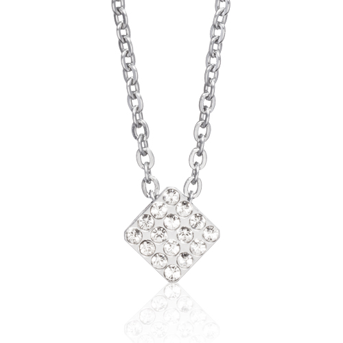 (S) Brilliance Square Crystal Necklace
