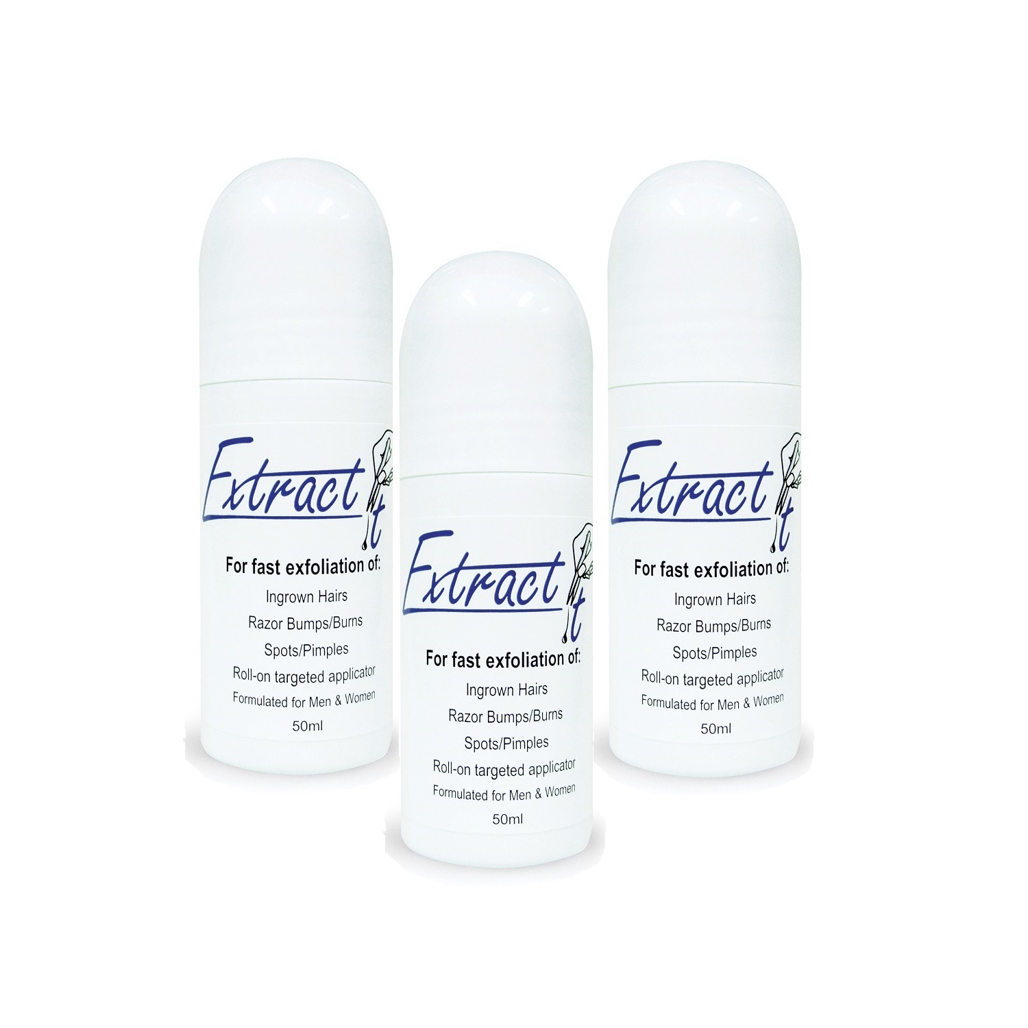 Extract It Roll-on Ingrown Hair Remover (3 Pack)